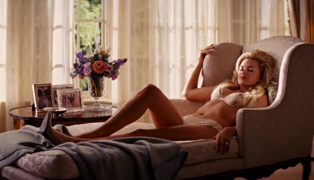 margot Robbie in The Wolf of Wall Street. One of the hottest looks ever in a movie.