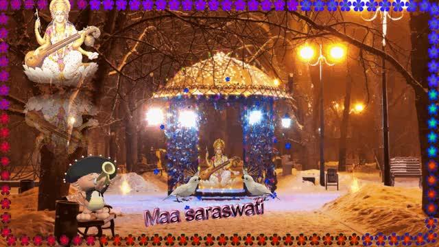Watch and share Jai Maa Saraswati GIFs by pramodmittal on Gfycat