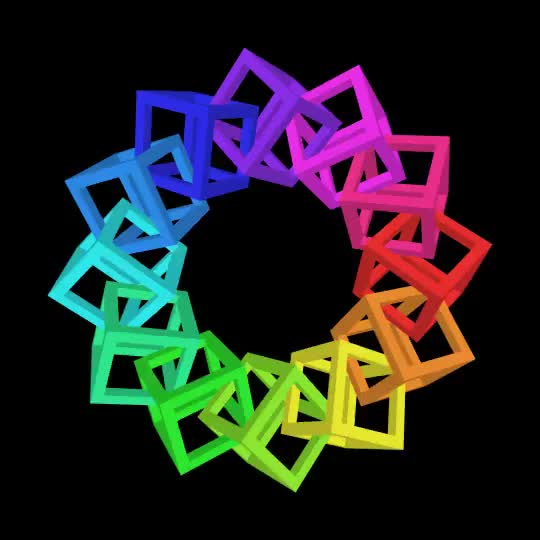Watch and share Bees & Bombs - Linked Cubes #processing GIFs on Gfycat