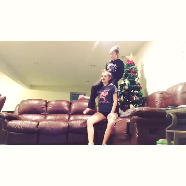 Watch Girls Fall on Christmas Tree GIF on Gfycat. Discover more whatcouldgowrong GIFs on Gfycat