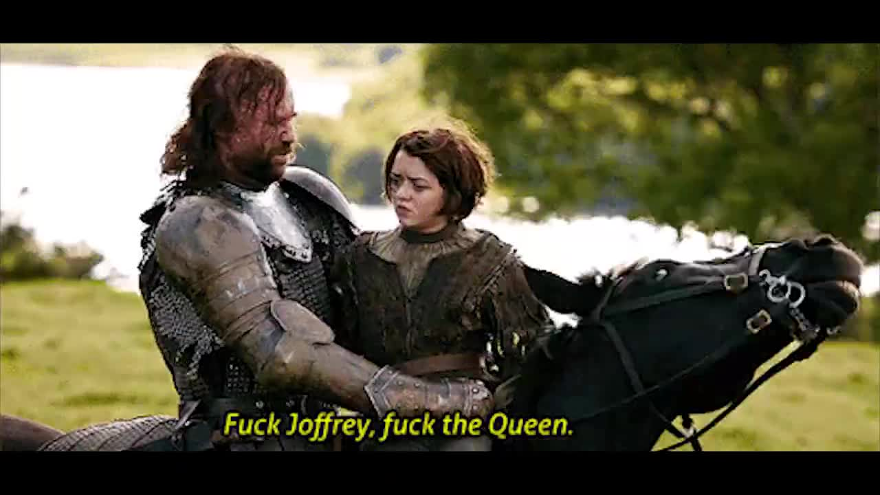 arya stark, fuck joffrey, game of thrones, maisie williams, rory mccann, sandor clegane, the hound, The Hound Fuck Joffrey GIFs