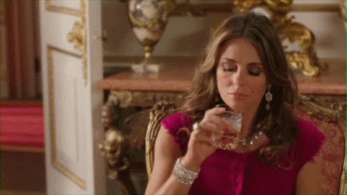 drinking, elizabeth hurley, The Royals, Queen Helena GIFs