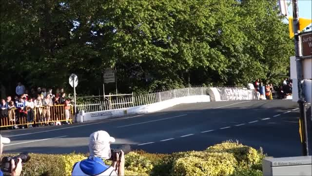 Watch and share Superbike Jumps Over Ballaugh Bridge! TT 2014 - IOM - Tourist Trophy! GIFs on Gfycat