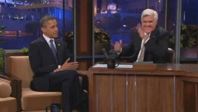 Watch and share Barack Obama GIFs and Jay Leno GIFs on Gfycat