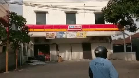 Watch Indonesian Supermarket collapses after the earthquake GIF on Gfycat. Discover more related GIFs on Gfycat
