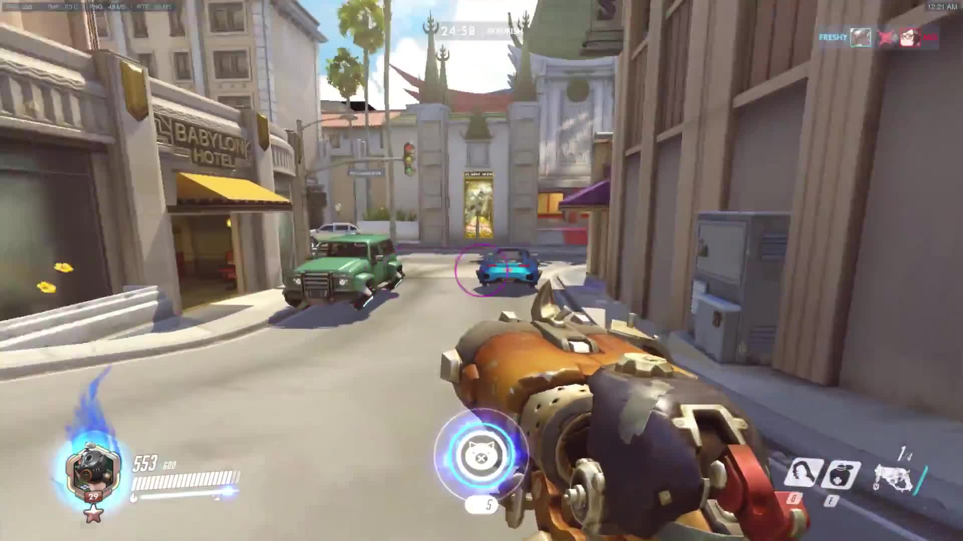 overwatch, ptr, roadhog, Overwatch - PTR Roadhog can one-shot with ease GIFs