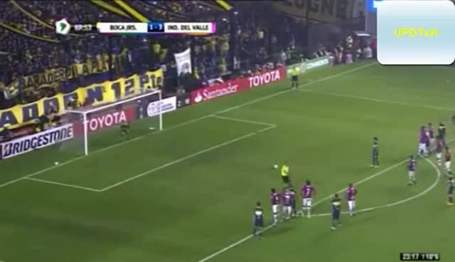 Watch and share Penal Errado De Lodeiro - Boca Juniors - Independiente Del Valle - Copa Libertadores 2016 -Semifinal GIFs on Gfycat