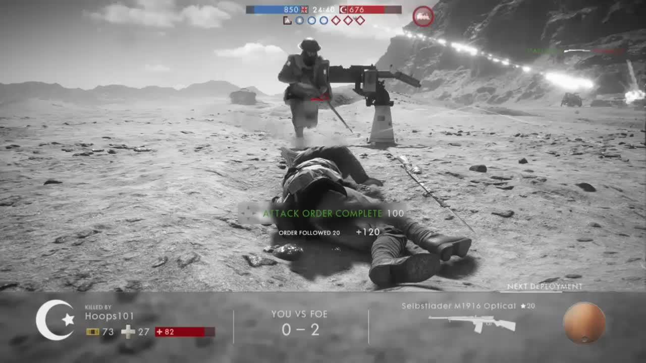Battlefield One - Borrowed Arisaka Infantry vs Plane GIFs