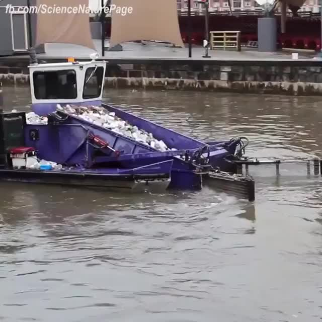Watch This is fantastic. We need these cleaning boats in every port. GIF on Gfycat. Discover more cleaning boat GIFs on Gfycat