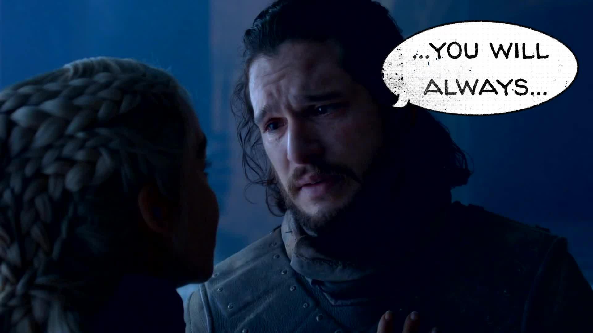 celebs, game of thrones memes, got memes, kit harington, Dany Dies Parody (No Sound) GIFs