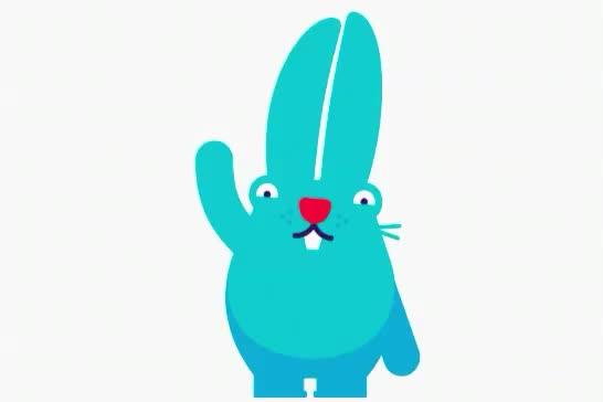 animals, bunnies, bunny, cute, hello, hey, hi, hola, rabbit, wave, Hi! GIFs