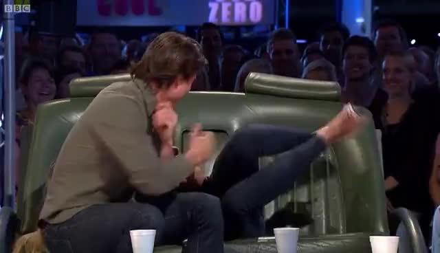cameron diaz, tom cruise, Tom Cruise and Cameron Diaz Interview - Top Gear - BBC GIFs