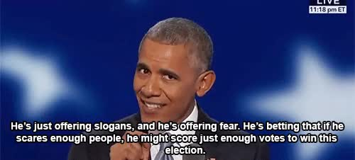 Watch and share Barack Obama GIFs and Dnc2016 GIFs by Reactions on Gfycat