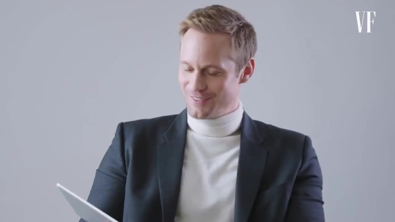 Skarsgard, alexander skarsgard, Alexander Skarsgård Teaches You Swedish Slang | Vanity Fair GIFs
