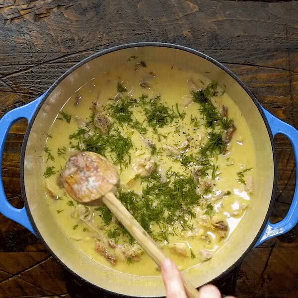 Watch and share Lemon Garlic Chicken Orzo Soup GIFs by Morgan Eisenberg on Gfycat