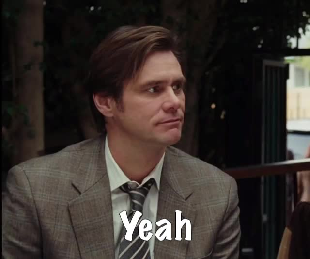 GIF Brewery, Sure, Yeah, gif brewery, jim carrey, sure, yeah, yes-man---trailer, Why not? GIFs