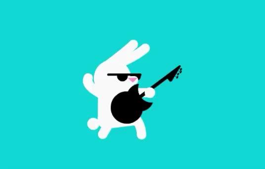 animals, bunnies, bunny, cool, crazy, cute, guitar, master, music, player, rabbit, rock, rockstar, star, Rockstar rabbit GIFs