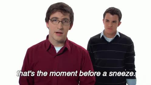 On Sneezing GIFs