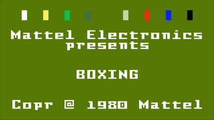 1980, 1981, 2600, 5200, Game (Business Operation), Intellivision (Video Game Engine), Mattel (Business Operation), controller, game, intel, intellivision, mattel, old, older, sample, shooter, space, sport, up, yt:stretch=4:3, Boxing Intellivision Gameplay (Mattel Electronics 1981) (HD) GIFs