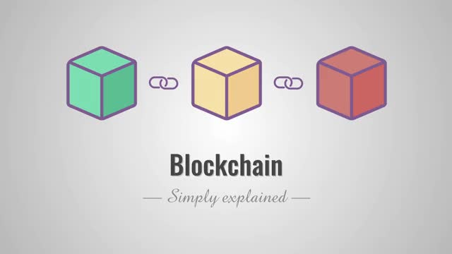 How does a blockchain work - Simply Explained GIF