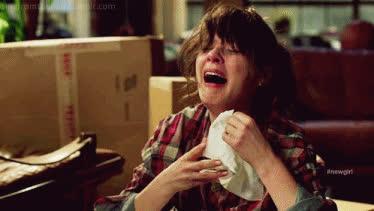 crying, zooey deschanel, zooey deschanel pms problems gif GIFs