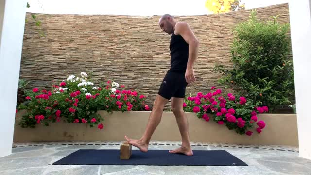 Watch and share Toe Elevated Hamstring And Calf Stretch GIFs on Gfycat