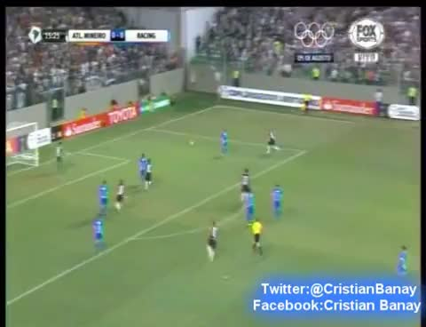 Watch and share Atletico Mineiro 2 Racing 1 (Esperanza Racinguista)  Copa Libertadores 2016 GIFs on Gfycat