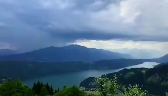 Watch and share Ливень Над Озером Милльштеттер-Зе, Австрия GIFs on Gfycat