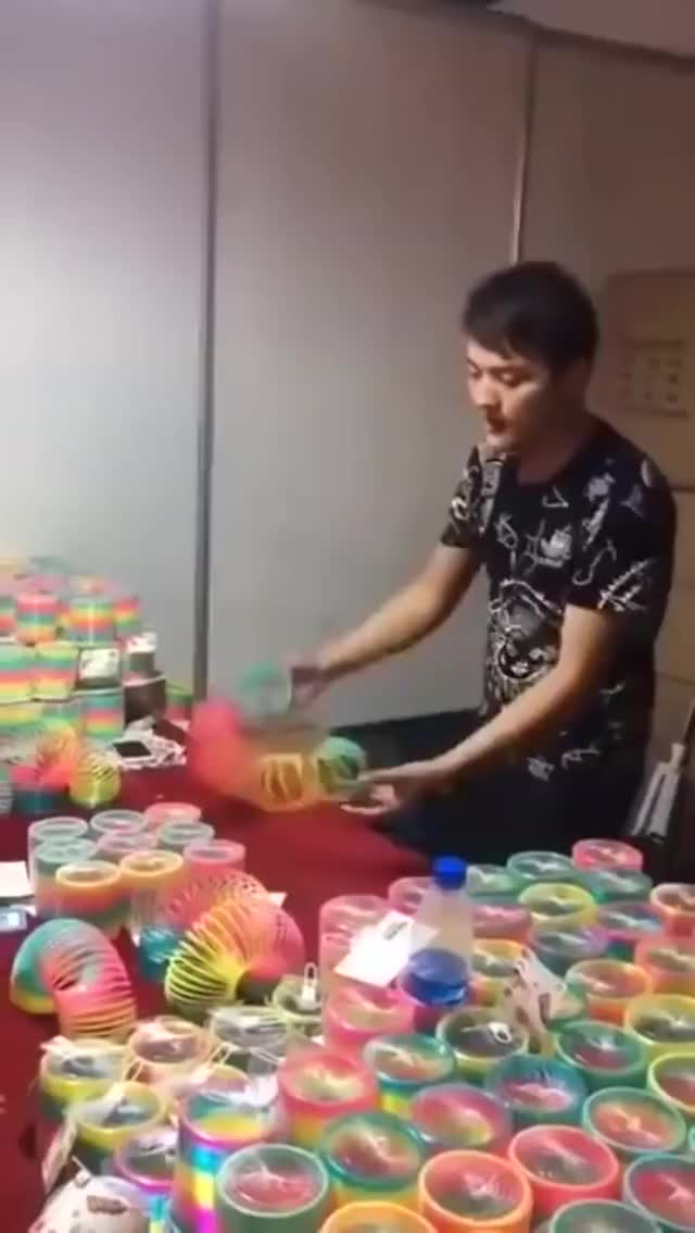 Watch and share Slinky Rainbow GIFs by heydude_role_67 on Gfycat