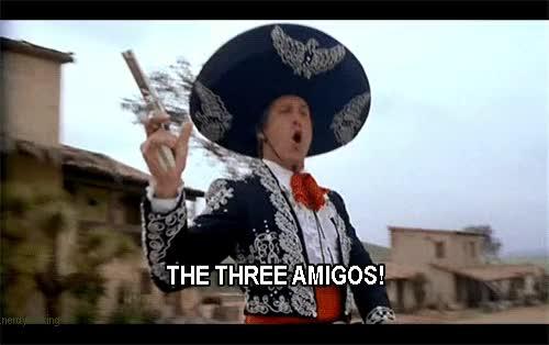 Watch and share Three Amigo GIFs on Gfycat