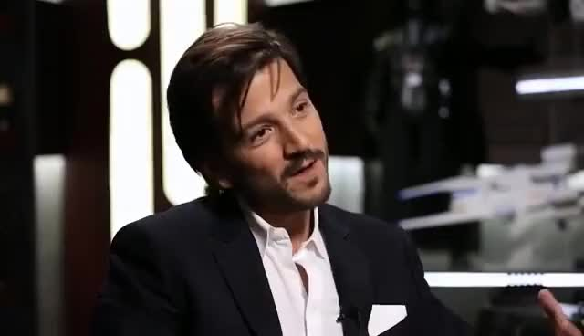 Watch and share Diego Luna Captain Cassian Andor From Rogue One Bangs The Star Wars Show GIFs on Gfycat