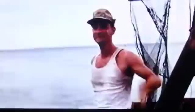 Watch and share Forrest Gump Jumping Of The Boat To See Lieutenant Dan GIFs on Gfycat