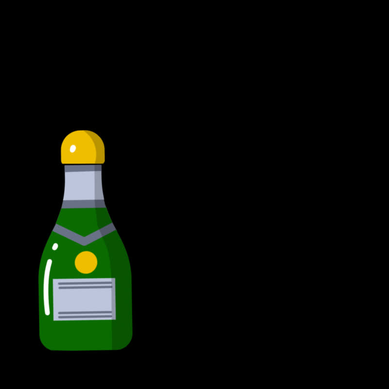Celebration, alcohol, booze, champagne, champagne bottle, drink, drinking, party, Champagne Bottle GIFs
