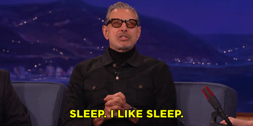 jeff goldblum, sleep,  GIFs
