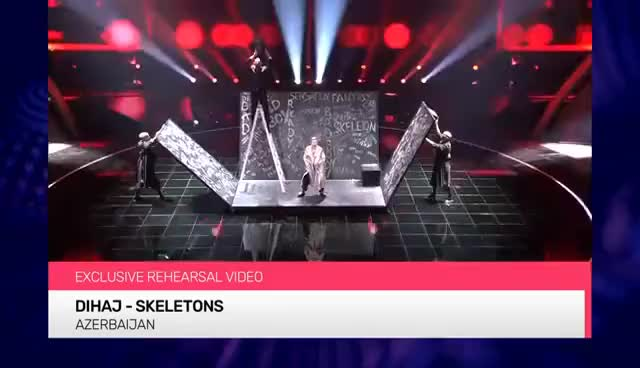 Watch and share Dihaj - Skeletons (Azerbaijan) EXCLUSIVE Rehearsal Footage GIFs on Gfycat
