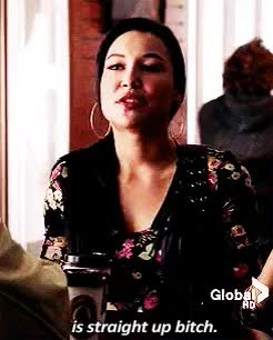 Watch and share Santana Lopez GIFs and Naya Rivera GIFs on Gfycat