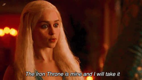 emilia clarke, game of thrones, iron throne, iron throne GIFs