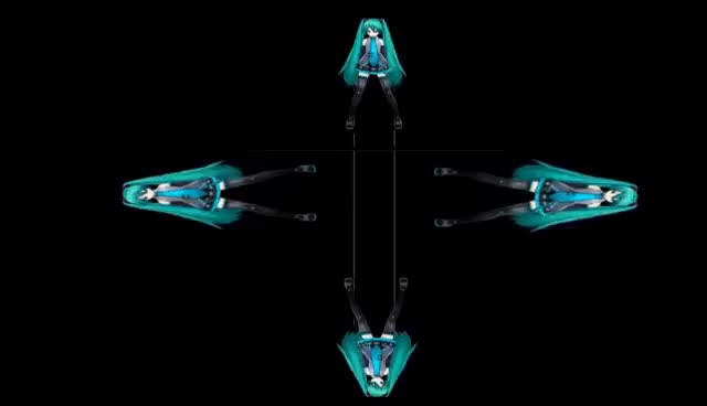 Watch and share MIku Bad Apple Hologram Video In 4 Face View For Holographic Pyramid GIFs on Gfycat
