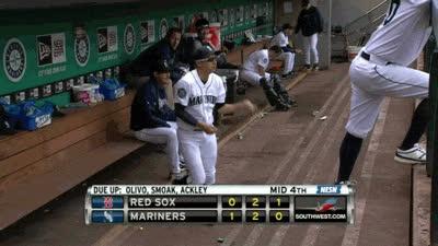 baseball, red sox, mariners, mlb, warm up GIFs