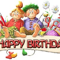 Watch and share 1st Birthday Cakes Photo: Happy BIrthday Artsey Crafts Banner Graphics-birthday-953199.gif animated stickers on Gfycat