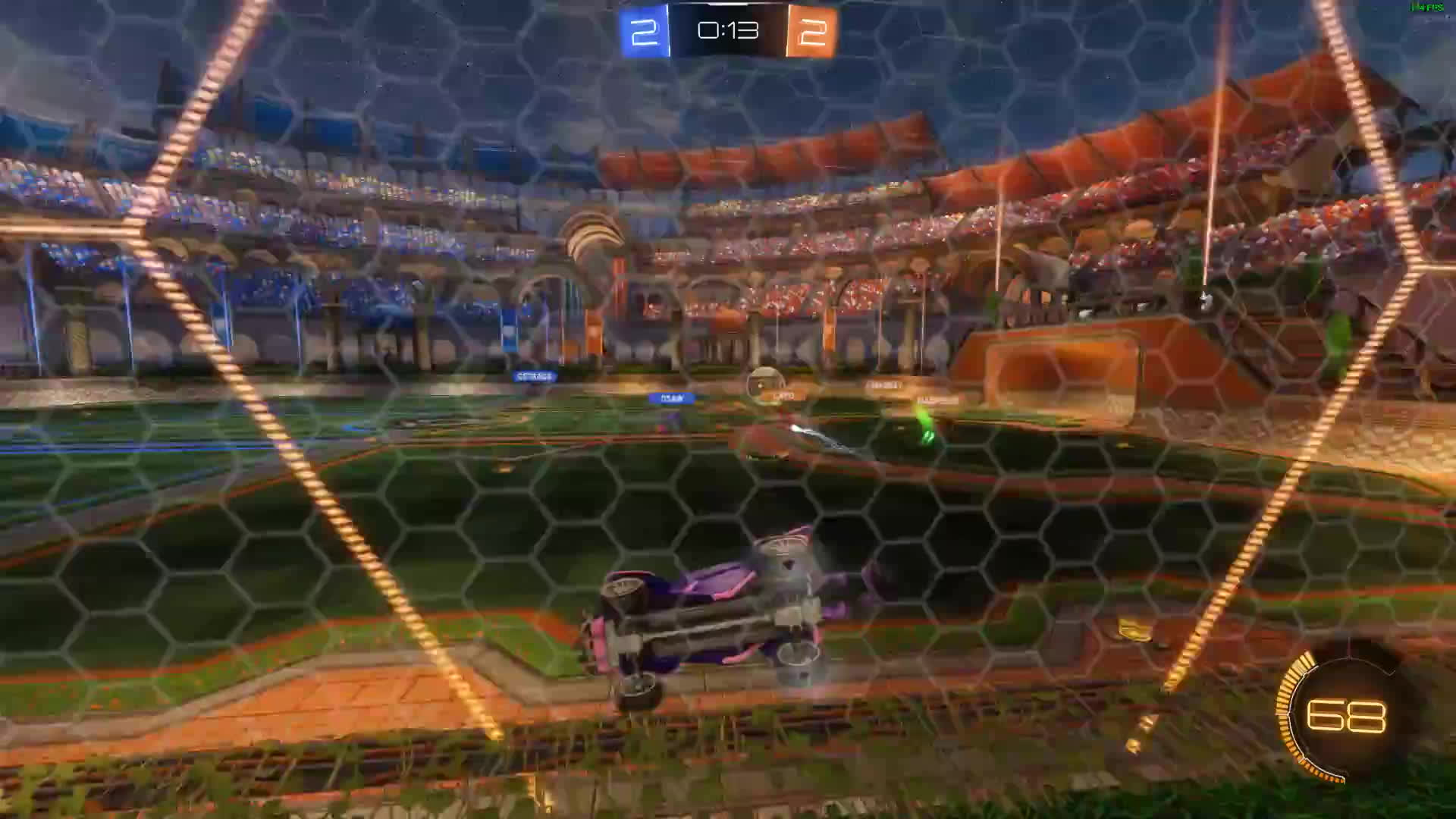 Rocket League, rocketleague, RL - 172 km/h team-pinch to victory - opponent POV GIFs