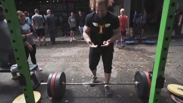 Clarence Kennedy one handed deadlift 315 lbs/143 kg GIF by (@xelin1