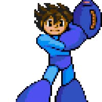 Watch and share Marvel Vs Capcom - Megaman animated stickers on Gfycat