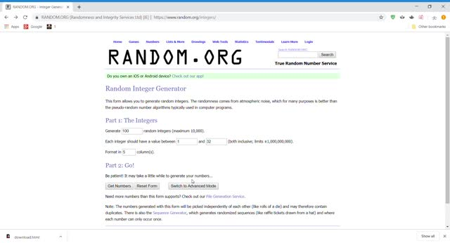 Watch and share RANDOM.ORG - Integer Generator - Google Chrome 6 13 2019 9 18 02 PM GIFs on Gfycat