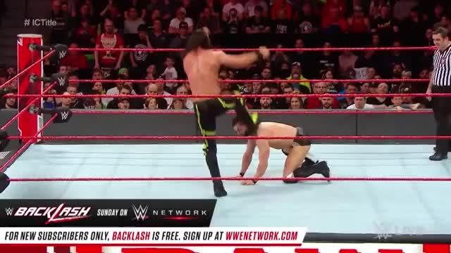 Seth Rollins Curb Stomp Finn Bálor - Raw, April 30, 2018 GIF | Find