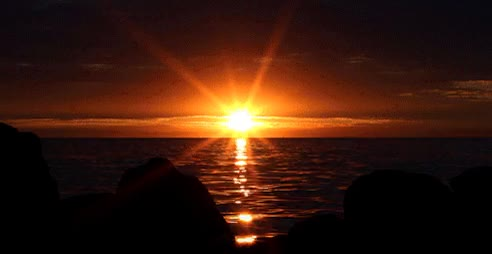 Watch and share Огненный Тропический Закат У Моря. GIFs on Gfycat