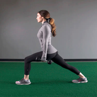 exercise, healthline, work out, 400x400 Lunge And Row GIFs