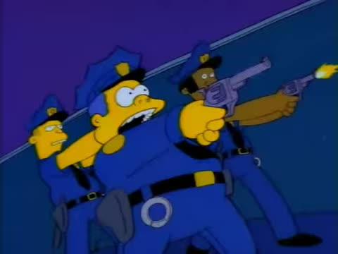 Bad Cops, Cops, Simpsons, Springfiled, Bad Cops, Bad Cops GIFs