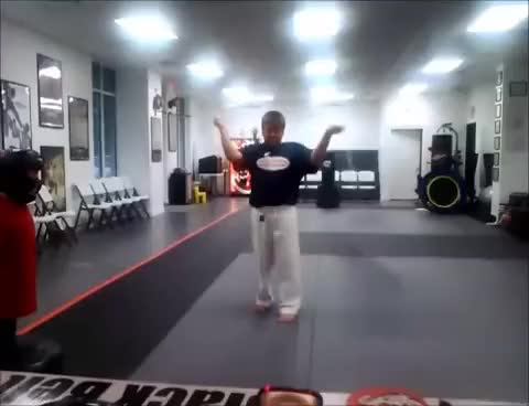 Watch and share Martialarts GIFs and Nutshot GIFs on Gfycat