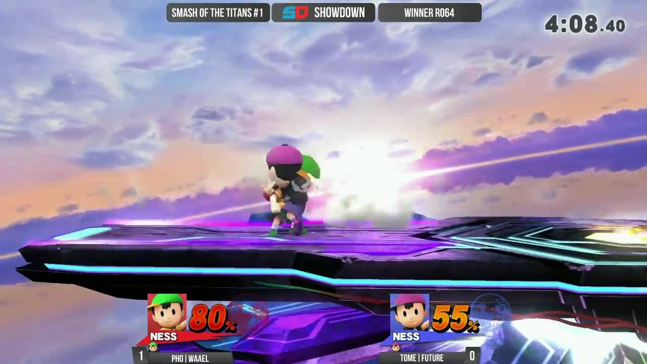 gaming, showdowngg, tournaments, Smash of the Titans #1 - Winner Ro64: PHO|Waael (Ness) vs TOME|Future (Ness) GIFs